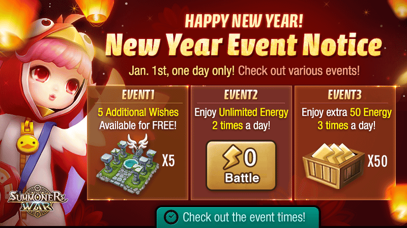 Happy New Year! New Year Event