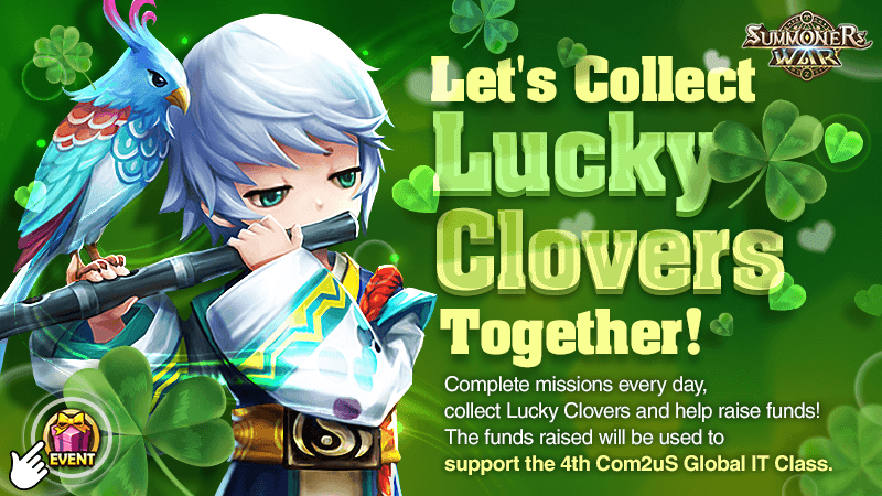 Lets Collect Lucky Clovers Together Event