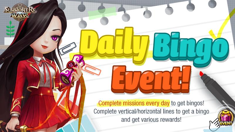 Daily Bingo Event
