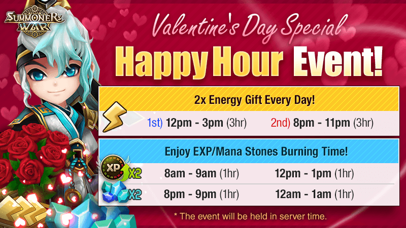Valentines Day Special Happy Hour Event