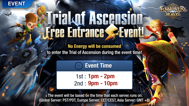 Trial of Ascension Free Entrance Event May 2018