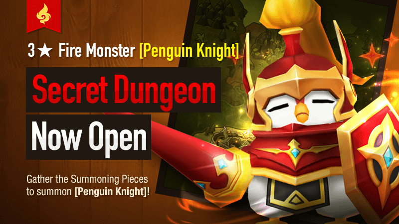 Secret Dungeon Penguin Knight Fire