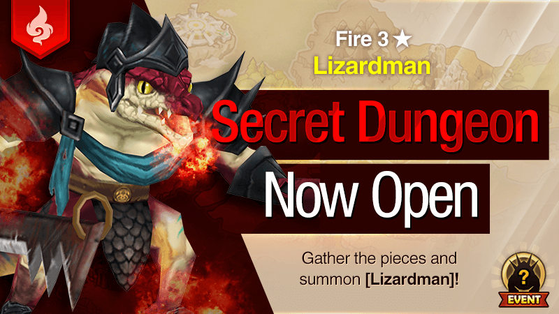 Secret Dungeon Lizardman Fire