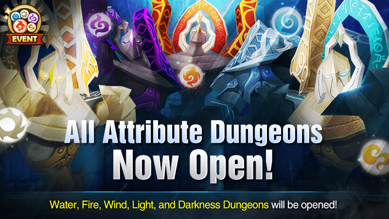 All Attribute Dungeons Open November 2018