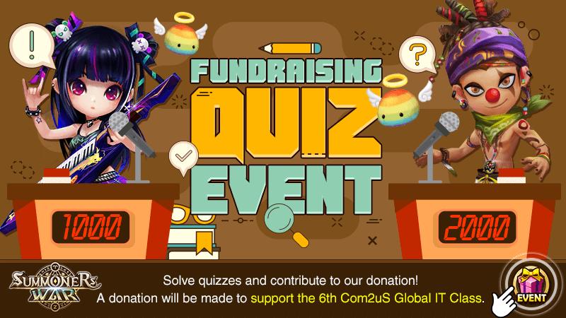 Fundraising Quiz Event