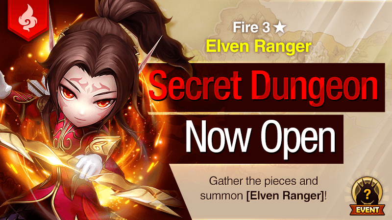 Secret Dungeon Elven Ranger Fire