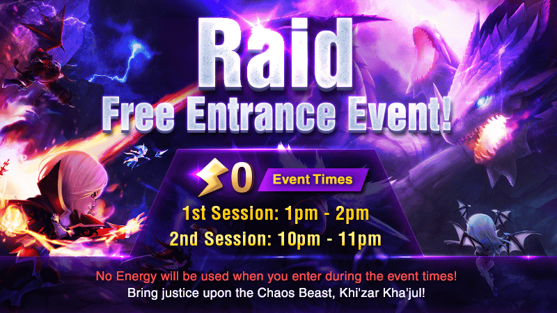 Rift Raid Free Entrance Event March 2019