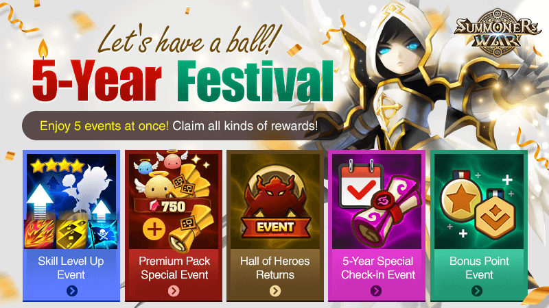 5th Anniversary Special Lets Have a Ball 5-Year Festival Event