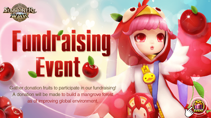 Lets Collect Donation Fruits Together Fundraising Event