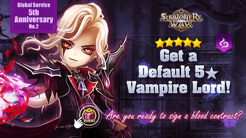 Global Service 5th Anniversary Special Default 5 Vampire Lord Reward Event Cinematic Video Reveal