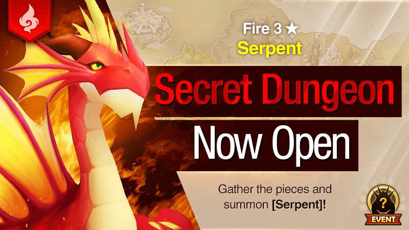 Secret Dungeon Serpent Fire