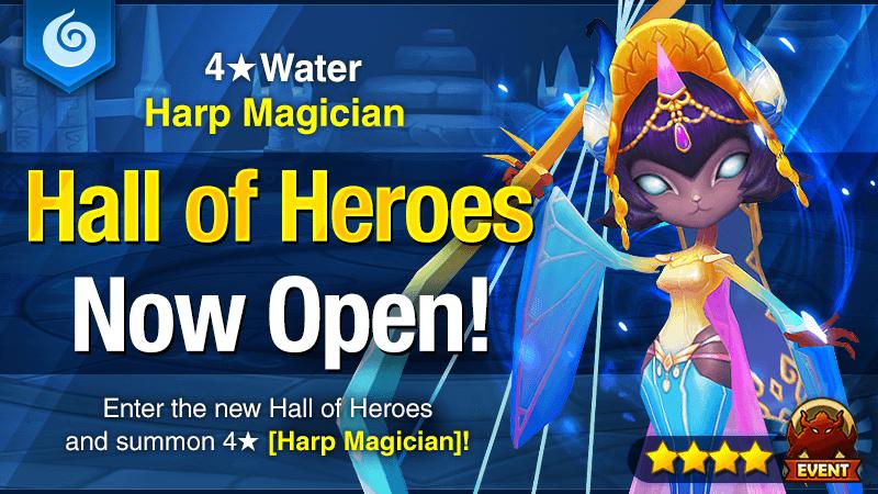 January Hall of Heroes - 4 Water Harp Magician