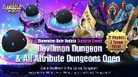 Dimension Hole Update Special Devilmon Dungeon All Attribute Dungeons Open for 3 Times June 2019